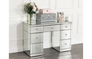 Monroe Dressing Table in Silver