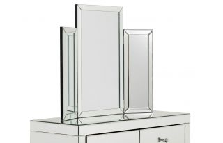 Monroe Silver Tri-fold Mirror