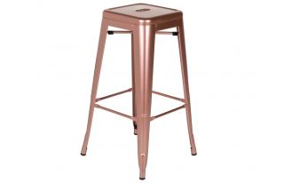 Bar Stool in Shiny Rose Gold (H76 x W42 x D42cm)