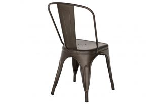 Tolix Style Chair in Gunmetal Matte