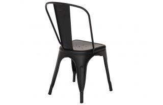 Tolix Style Chair in Black Matte