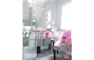 Monroe Silver Mirrored Dressing Table Set