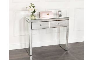 Monroe Silver Mirrored Console Table