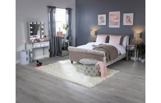 Monroe Silver Mirrored Console Table Set with 2 x 1 Drawer Bedside Tables and Small Hollywood Mirror