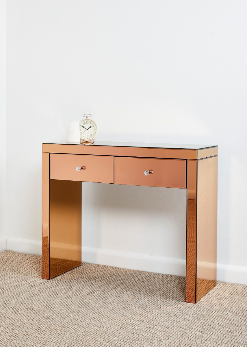 Furniture Dressing Table ~ Glass mirrored furniture dressing tables console