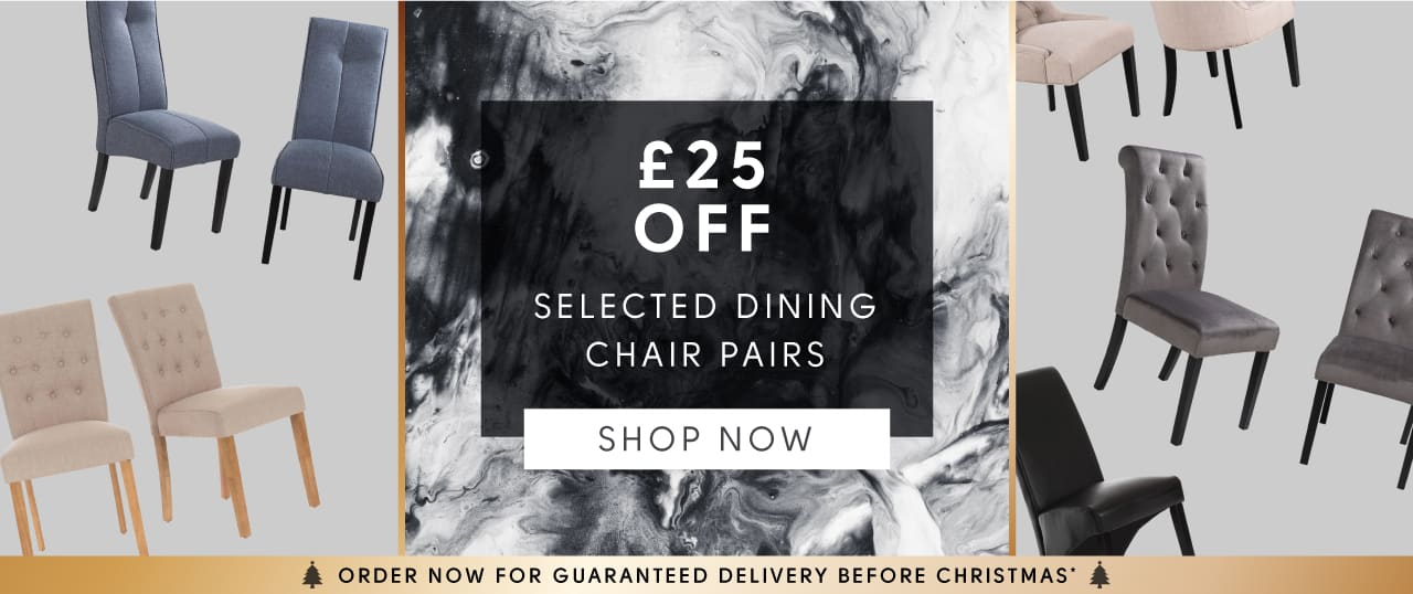 Black Friday Sale - £25 off selected dining chair pairs