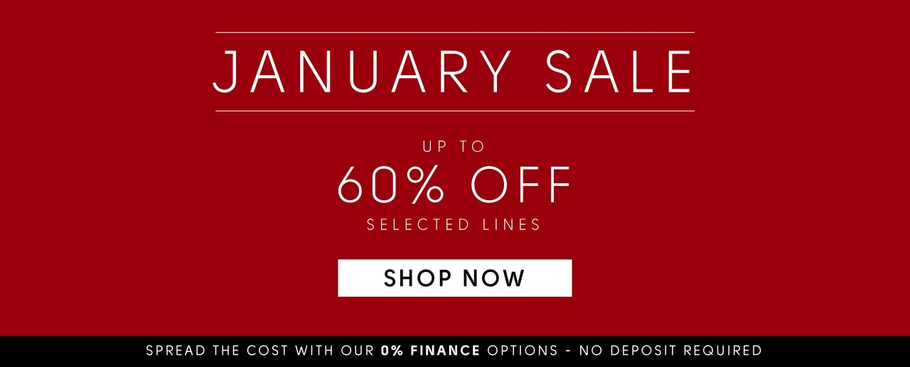 January Sale up to 60% off selected lines