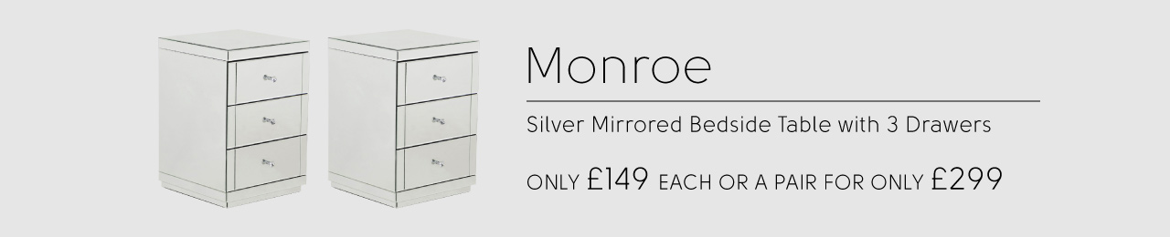 Mirrored Bedside Tables £149 each or £299 for a pair