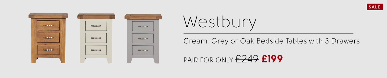 Westbury Bedside Tables, Only £149 or a pair for £249