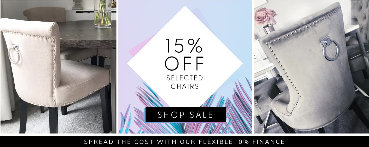 15% off selected chairs