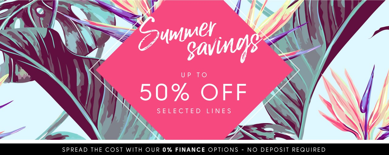 Summer Savings up to 50% off