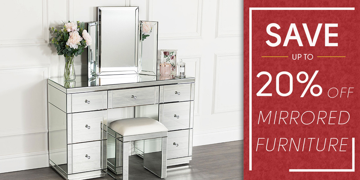 Red Tag Event - 20% Off Mirrored Furniture