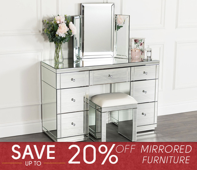 Red Tag Event - 20% Off Mirrored Furniture - Mobile