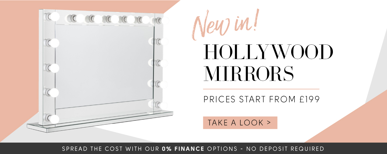 New in! Hollywood mirrors prices starting from £199