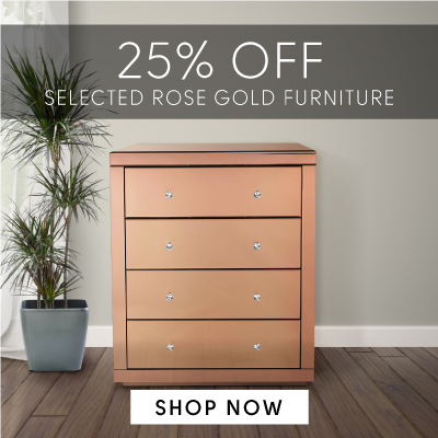 25% off selected rose gold furniture