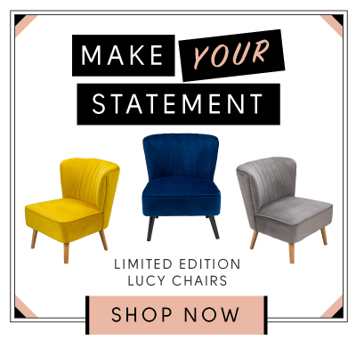 New in. Make your statement with the new limited edition Lucy chair