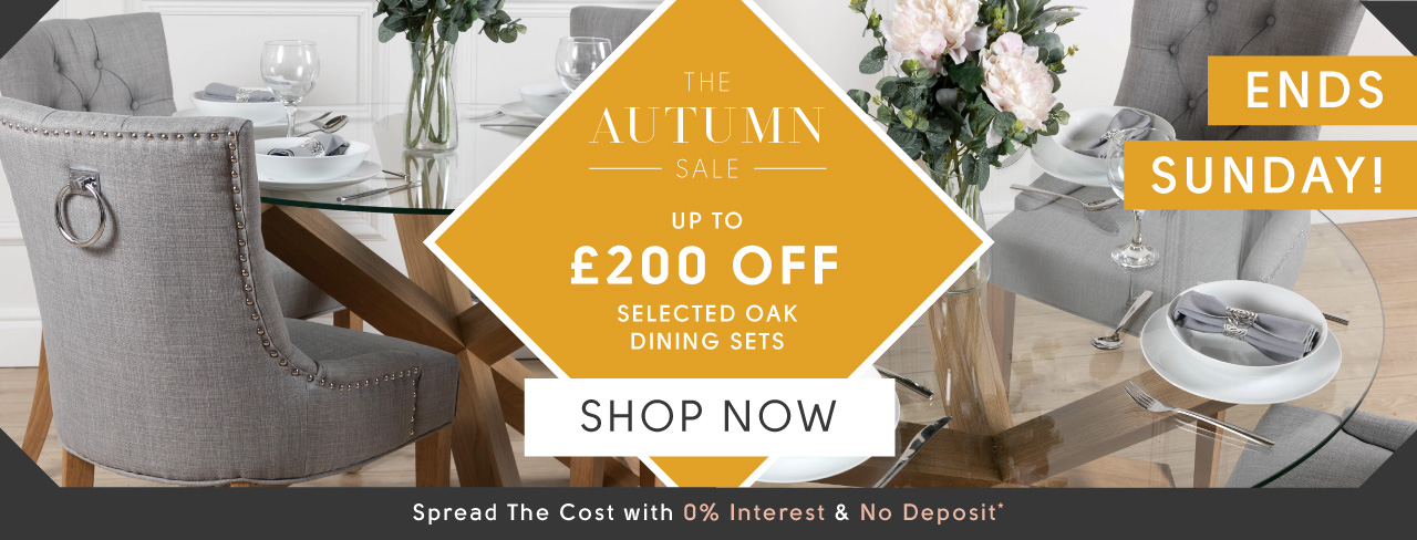 Up to £200 Off Oak Dining Furniture