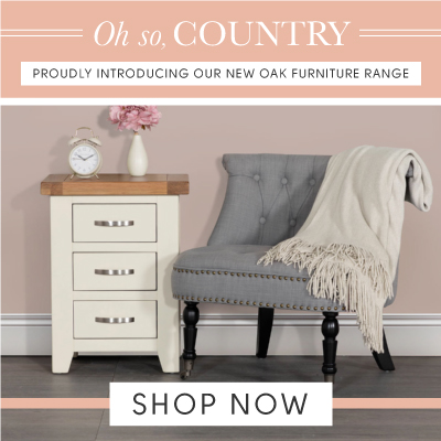 Oh so country. Proudly introducing our new oak furniture
