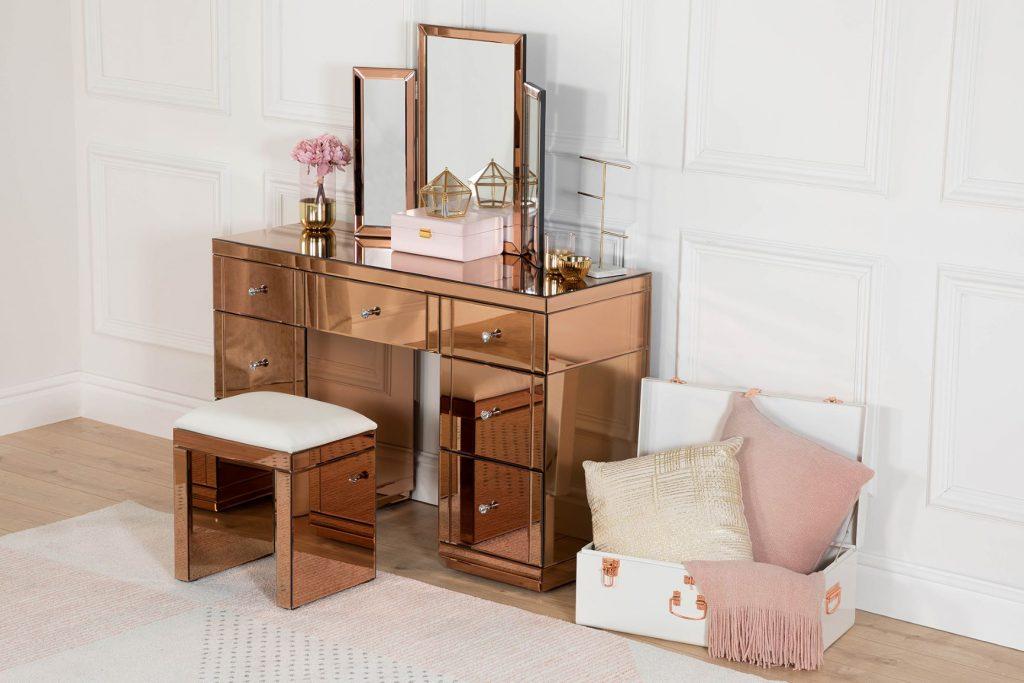 Rose Gold Mirrored Furniture 2019, Rose Gold Mirrored Furniture