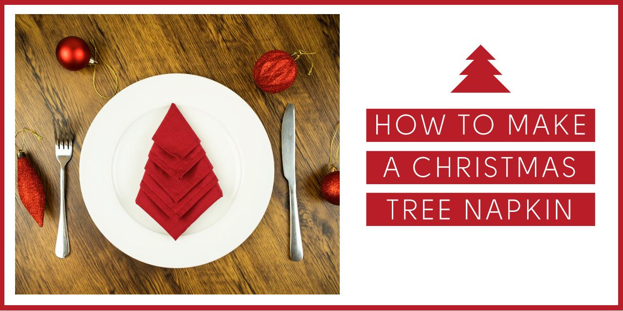 How to Make a Christmas Tree Table Napkin